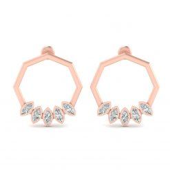 DIAMOND EARRINGS ROSE GOLD