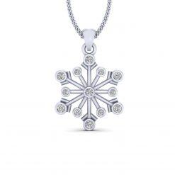 DIAMOND CHRISTMAS SNOWFLAKE PENDANT
