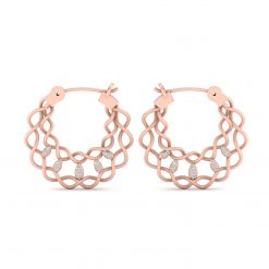 ROSE GOLD ENTWINED EARRINGS