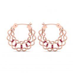 PINK DIAMOND ENTWINED EARRINGS