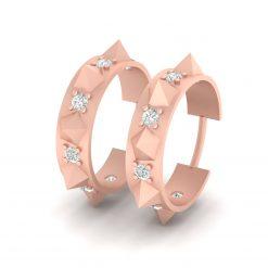 DIAMOND THORNY HOOP EARRINGS