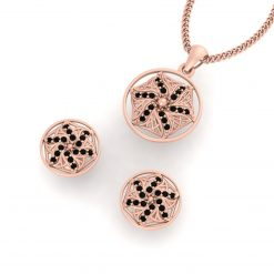 ROSE GOLD MESH PENDANT SET