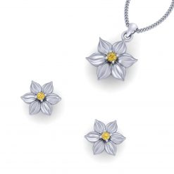 FLOWER NECKLACE EARRINGS SET
