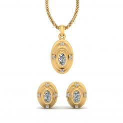 OVAL PENDANT EARRINGS SET