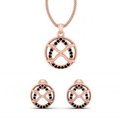 ROSE GOLD PENDANT EARRINGS SET