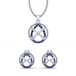 BLUE DIAMOND PENDANT EARRINGS