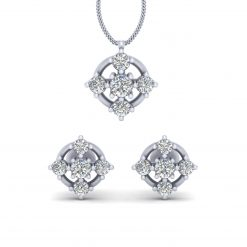 5 STONE PENDANT EARRINGS SET