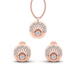DIAMOND PENDANT SET ROSE GOLD