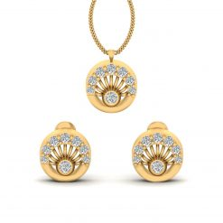 DIAMOND PENDANT EARRINGS GOLD