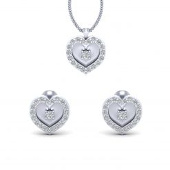 HEART PENDANT EARRINGS SET