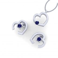 MINIMALIST HEART PENDANT EARRINGS SET
