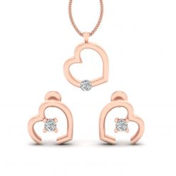 DIAMOND HEART NECKLACE SET