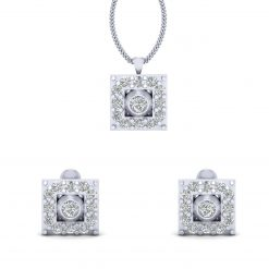 WHITE DIAMOND PENDANT SET