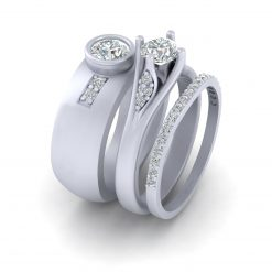 MATCHING COUPLE WEDDING RING SET