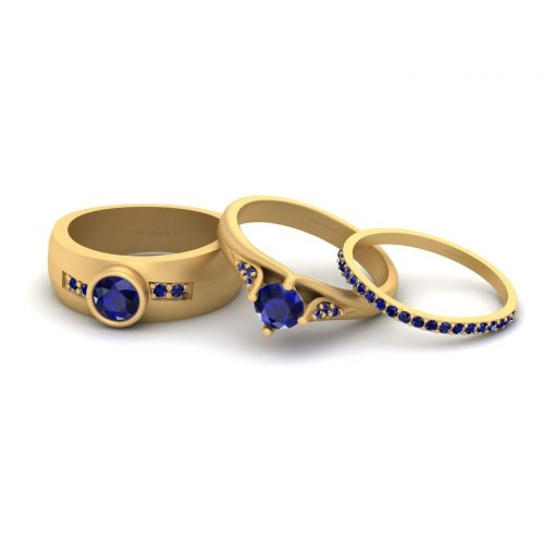 HIS AND HER MATCHING WEDDING RING SET