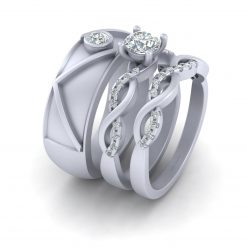 INTERTWINED MATCHING COUPLE RINGS