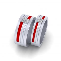 WHITE GOLD  MATCHING PROMISE BAND SET