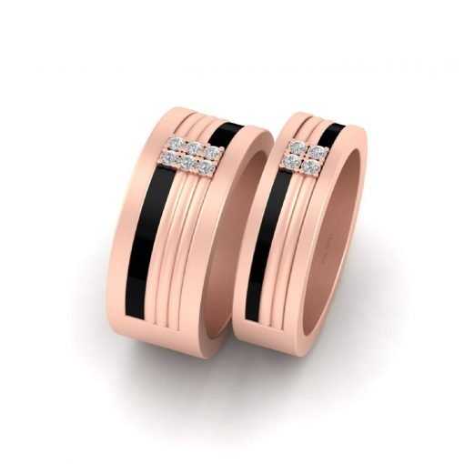 HIS AND HER COUPLE ENGAGEMENT BANDS