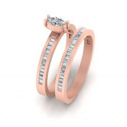 BAGUETTE DIAMOND ENGAGEMENT RING SET