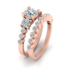 THREE STONE DIAMOND RING SETS
