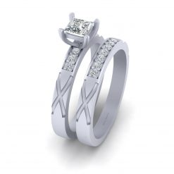0.55CTTW DIAMOND PROMISE RING SET