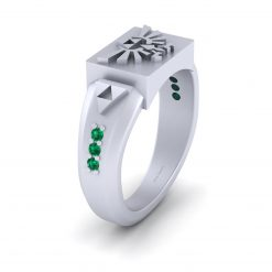STERLING SILVER ZELDA TRIFORCE RING