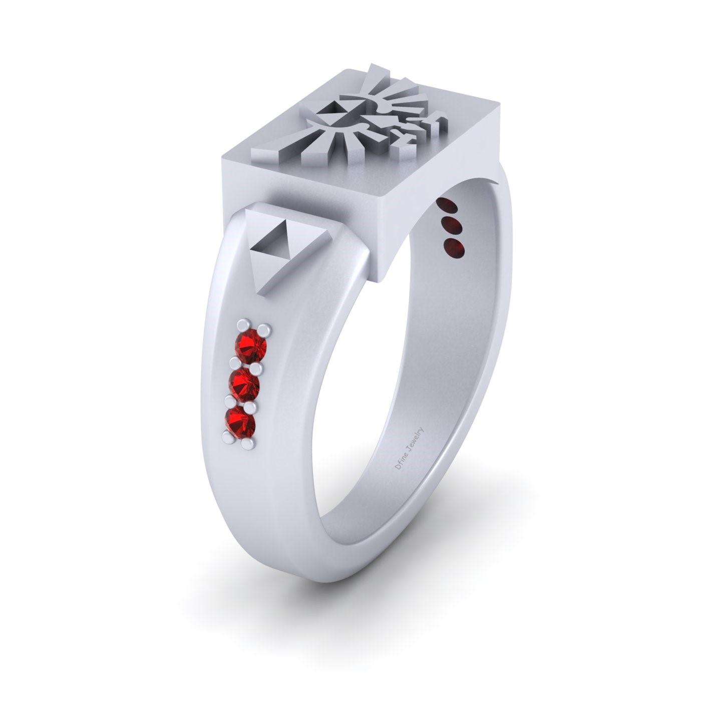 The Legend Of Zelda Engagement Ring Zelda Triforce Ring Sterling Silver