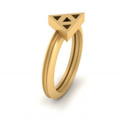 GOLD ZELDA TRIFORCE WEDDING RING