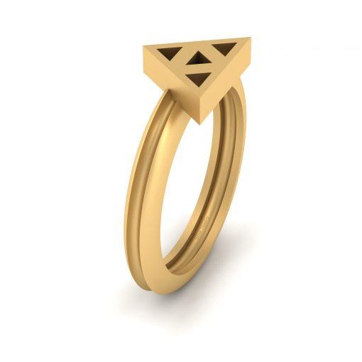 GOLD ZELDA TRIFORCE WEDDING RING