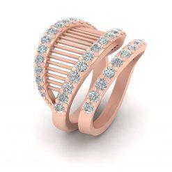 DIAMOND MESH ENGAGEMENT RING SET