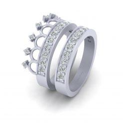 TIARA WEDDING RING BAND SET