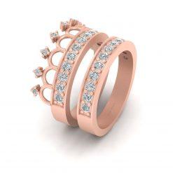 DIAMOND TIARA ENGAGEMENT RING SET