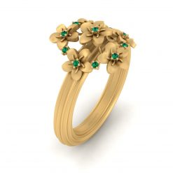 CLUSTER FLOWER WEDDING RING