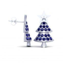 CHRISTMAS STAR EARRINGS SILVER