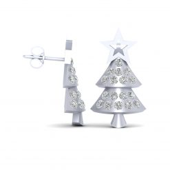 DIAMOND CHRISTMAS TREE EARRINGS