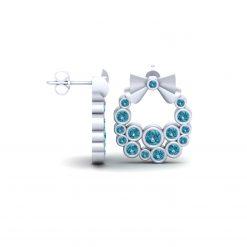 AQUA DIAMOND WREATH EARRINGS
