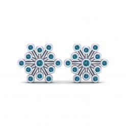AQUA DIAMOND SNOWFLAKE EARRINGS
