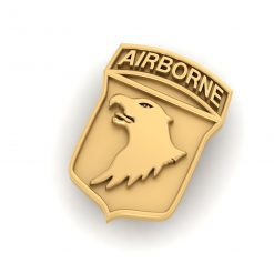 GOLD AIRBORNE ARMY BADGE