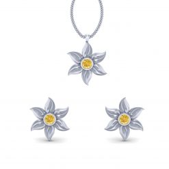 FLORAL WEDDING PENDANT SET