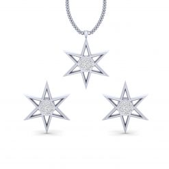 DIAMOND STAR PENDANT EARRINGS