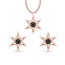 STAR PENDANT EARRINGS SET