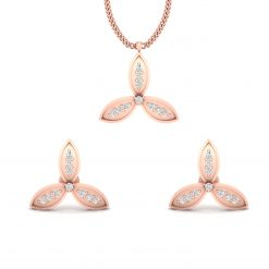 DIAMOND PETAL NECKLACE SET