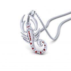 RED DIAMOND SCORPION NECKLACE