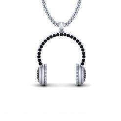 BLACK DIAMOND HEADPHONE PENDANT
