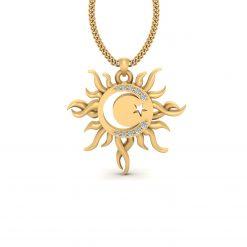 SUN MOON AND STAR PENDANT