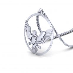 DIAMOND EAGLE PENDANT NECKLACE