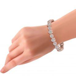 DIAMOND HEART WEDDING BRACELET