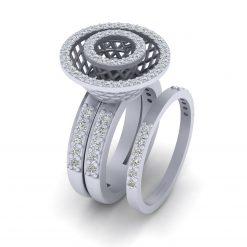 MESH WEDDING RING SET