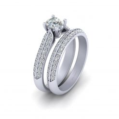 0.50CT MOISSANITE BRIDAL RING SET