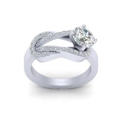 0.80CT MOISSANITE WEDDING RING